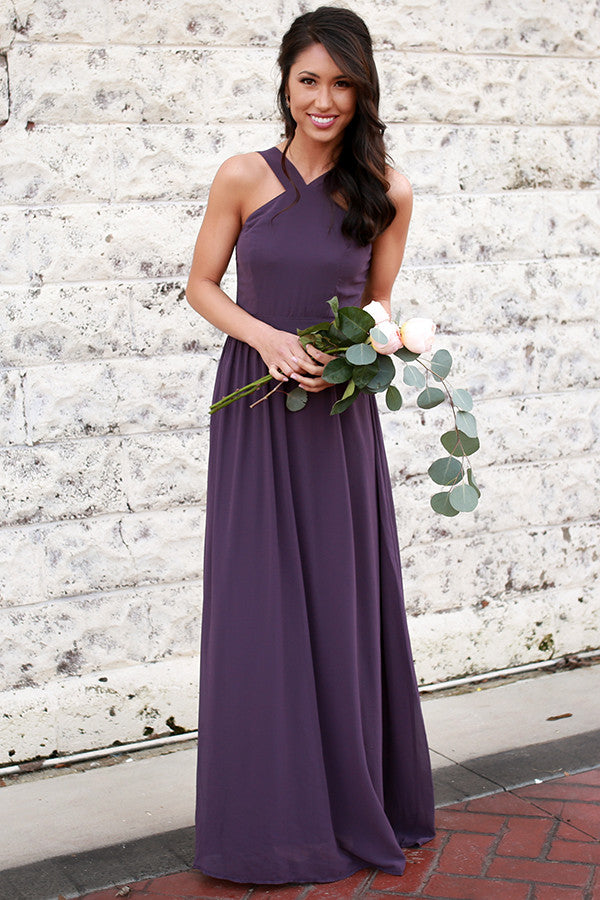 acab5be3575d Dreaming Of Love Maxi Dress in Dark Purple • Impressions Online Boutique