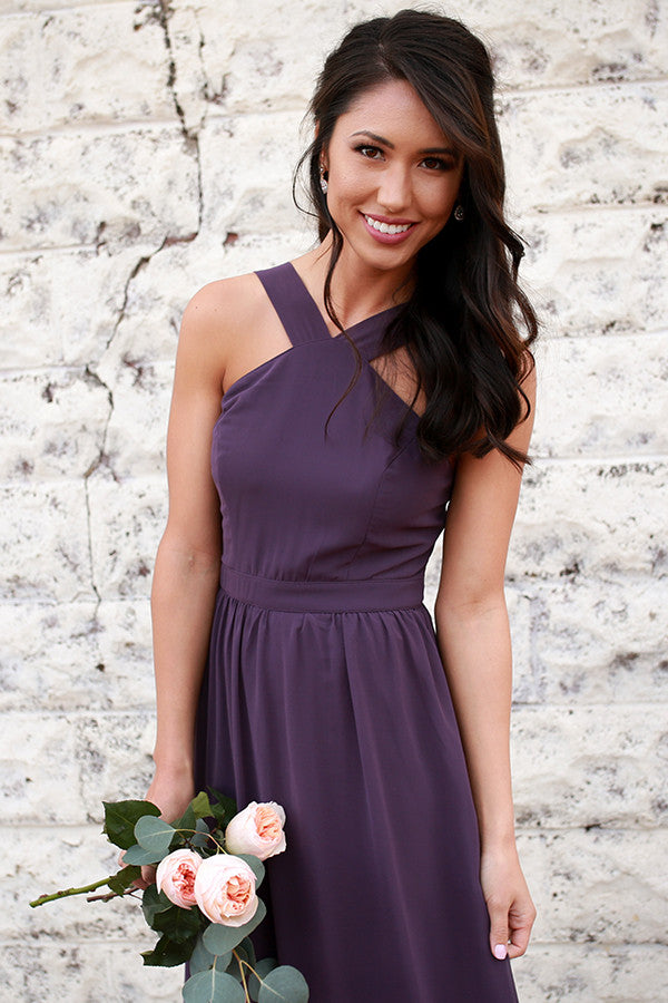 Dreaming Of Love Maxi Dress in Dark Purple • Impressions Online Boutique