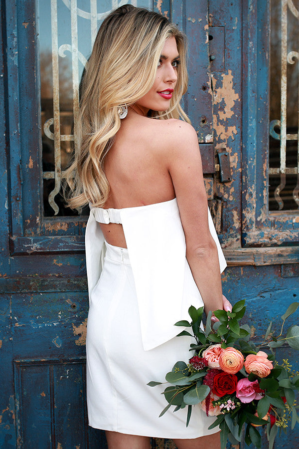 All For You Mini Dress in White