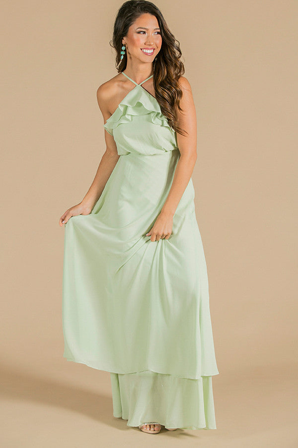The Romantic One Maxi Dress in Seafoam
