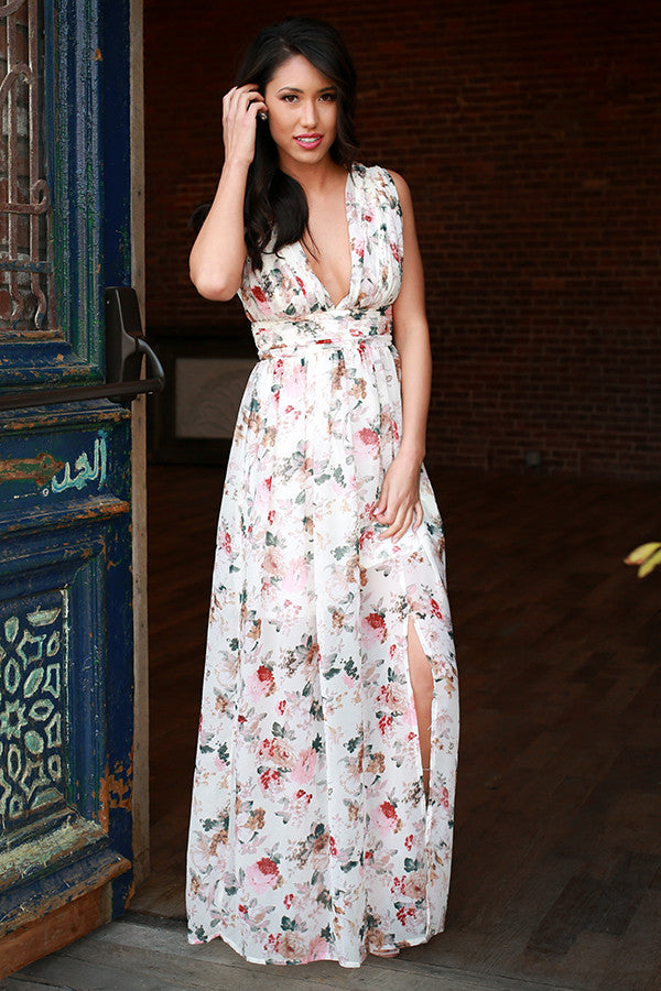 bca0e206b Brunching in Barcelona Maxi Dress • Impressions Online Boutique