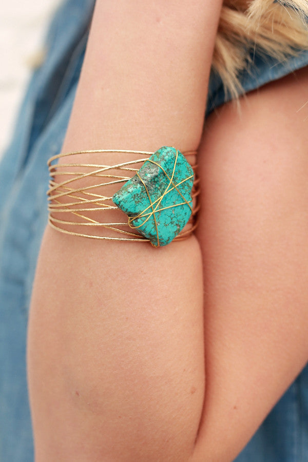Hearts On Fire Cuff In Turquoise