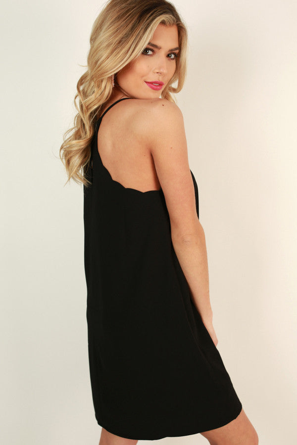 I Am Yours Forever Shift Dress in Black