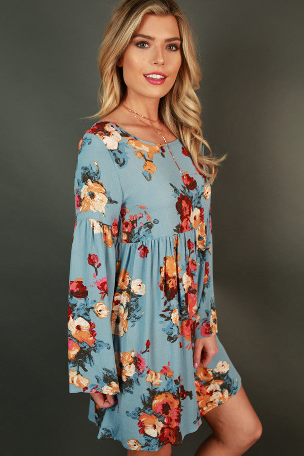 Brunch In The City Dress in Sky Blue