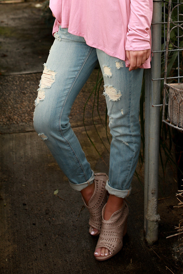 Oceanside Distressed Ankle Skinny