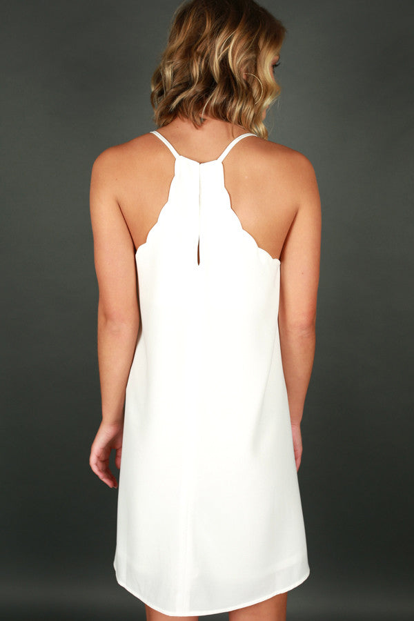 I Am Yours Forever Shift Dress in White