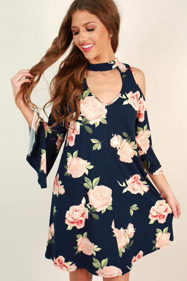 Rosy Kisses Shift Dress