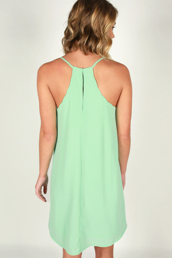 I Am Yours Forever Shift Dress in Mint