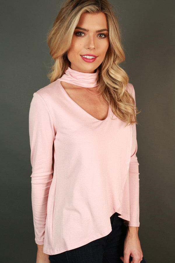 The Future is Fashion Cut Out Top in Rose Quartz
