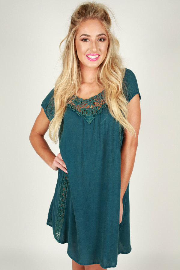 Back Before Dawn Dress in Teal