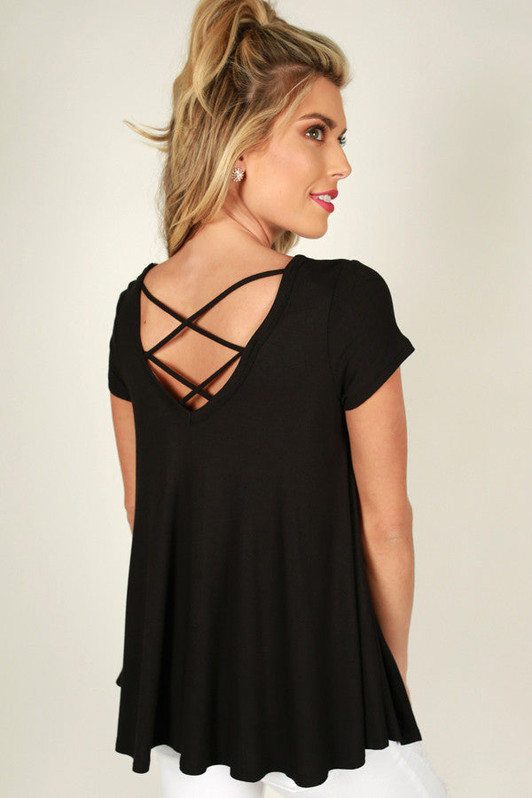 Feels Like Forever Top in Black