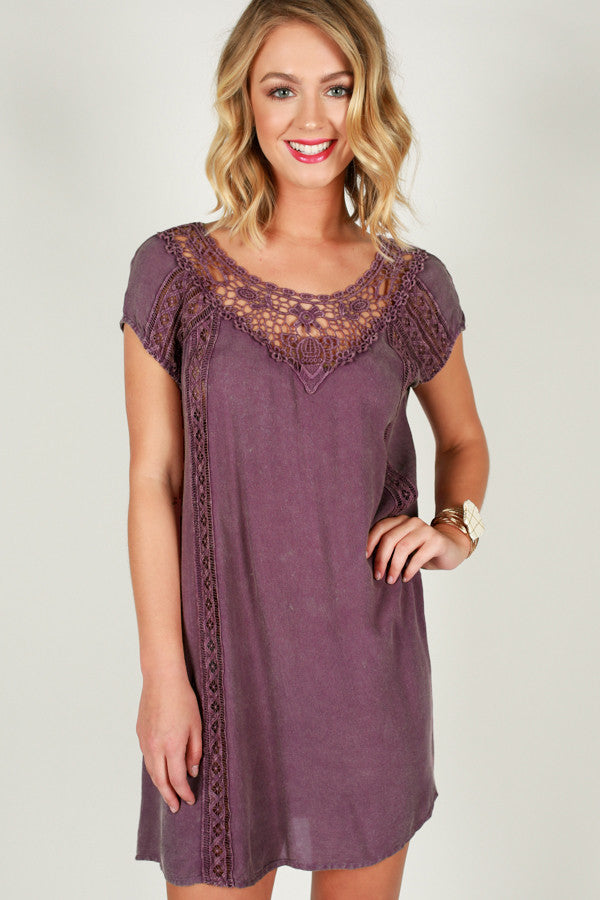 Back Before Dawn Dress in Purple