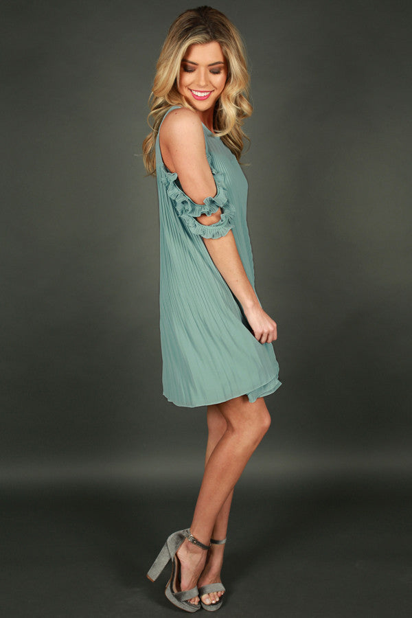 Stars In Your Eyes Dress in Limpet Shell