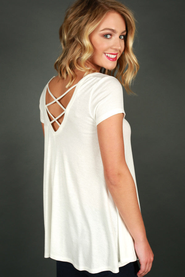 Feels Like Forever Top in Ivory