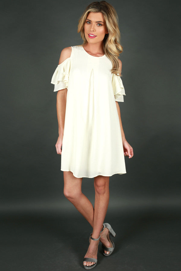 You Know You Love Me Dress in Cream