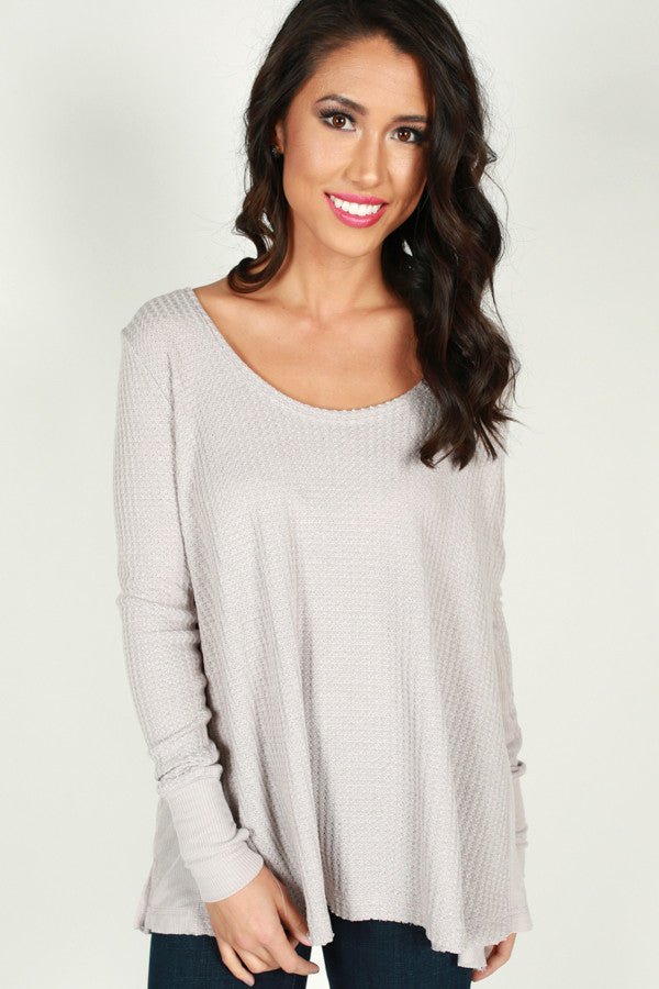 Just Roll With It Tunic in Lilac Grey