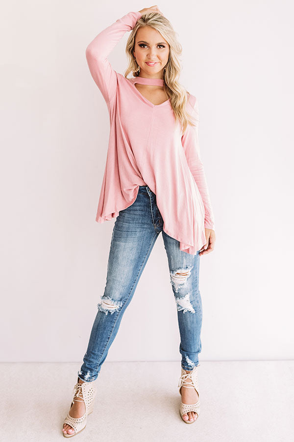 Swing On By Shift Top in Blush