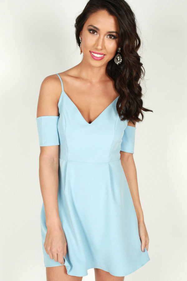 Lady Of Luxury Dress in Sky Blue