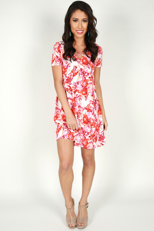 Beyond Perfection Floral Shift Dress