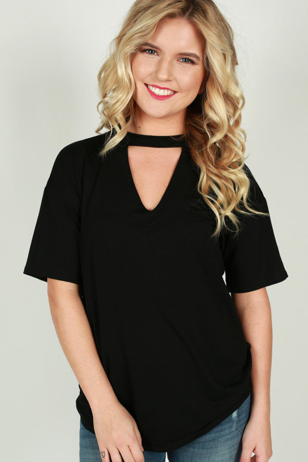 Weekday Chic Tee in Black