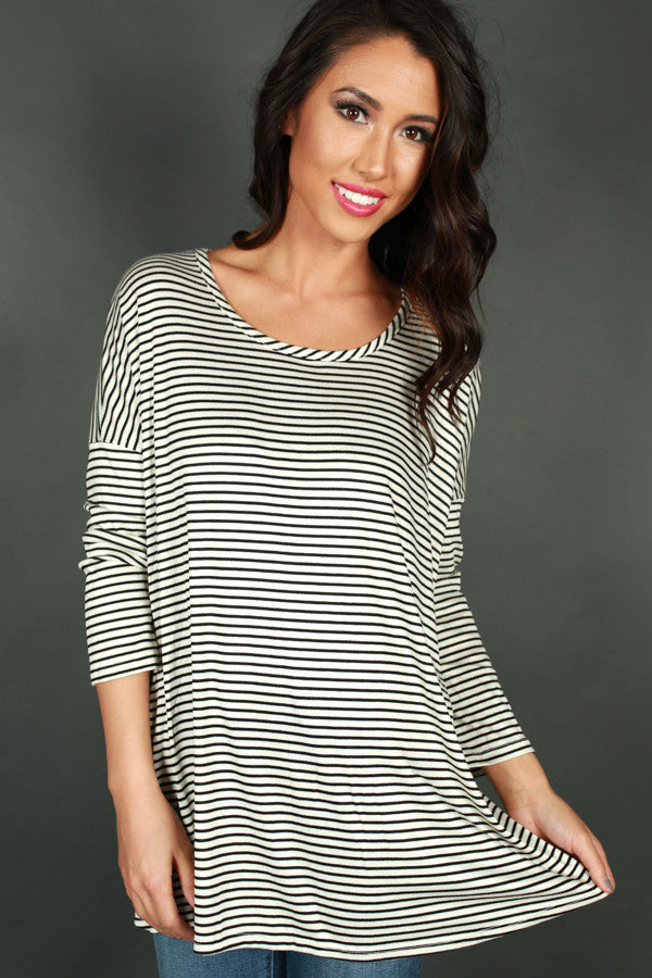 Not Your Boyfriends Stripe Tee