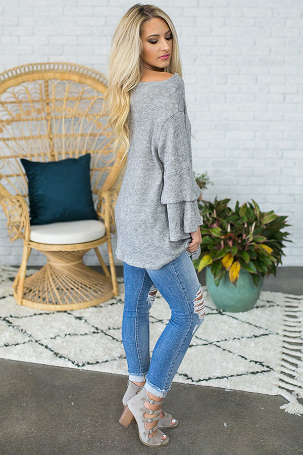 Perfect Opportunity Sweater in Grey