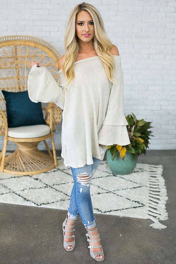Perfect Opportunity Sweater in Stone