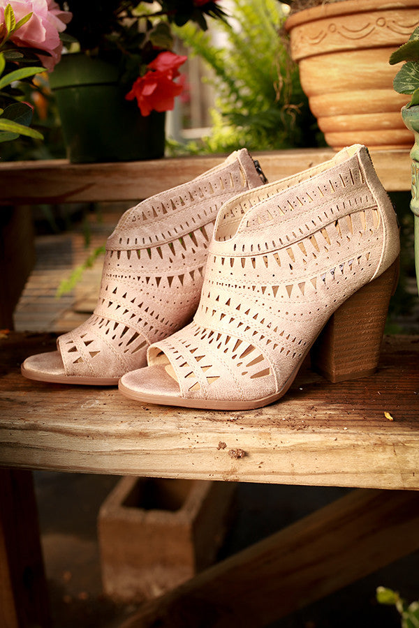 Groove Thang Ankle Bootie in Beige