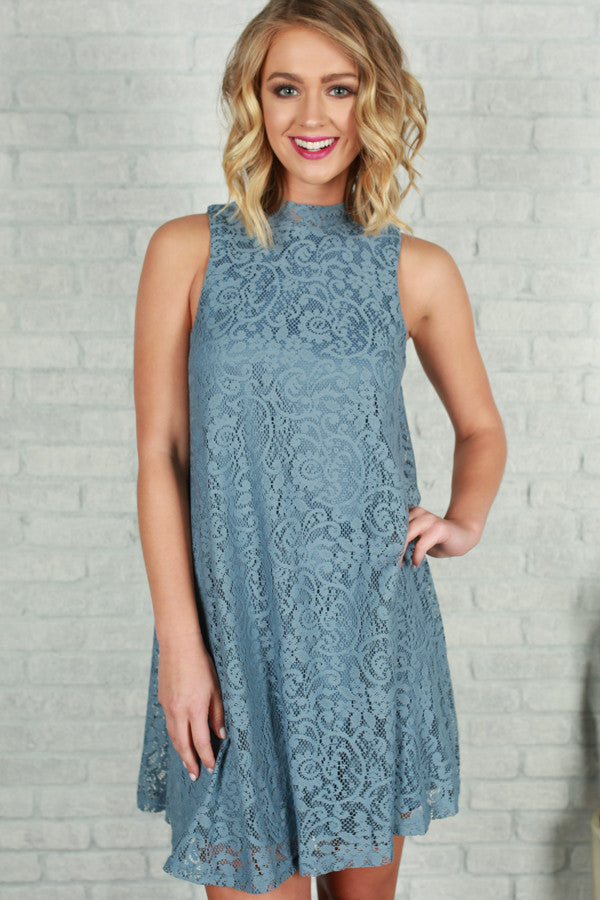 Lace Me Lovely Dress in Niagara