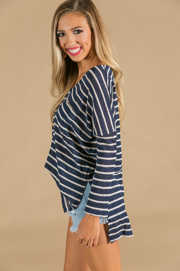 Drawing The Line Stripe Top