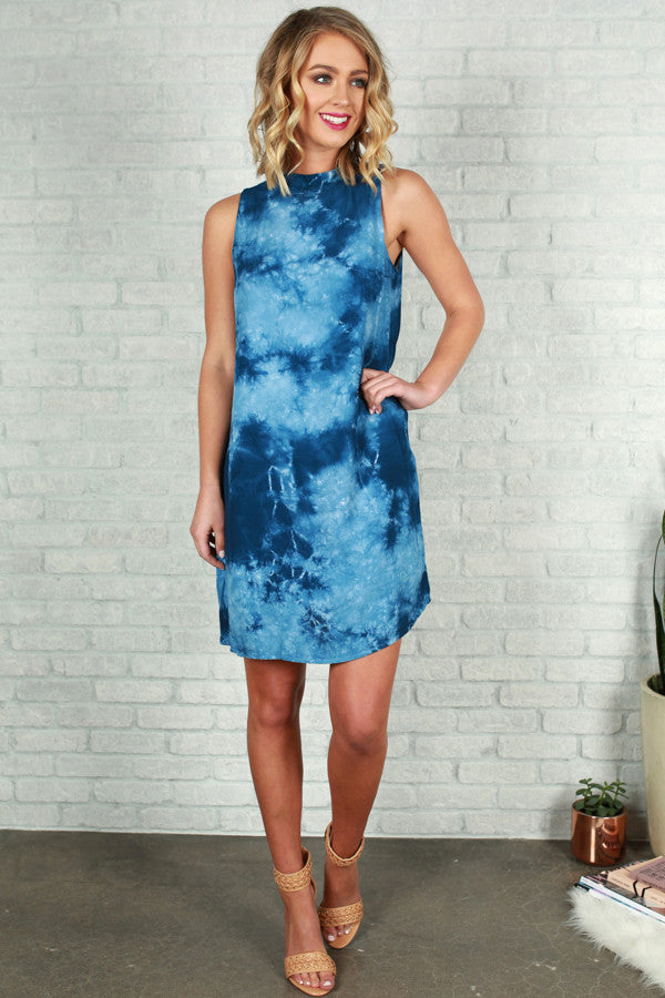Bahama Blues Tie Dye Dress
