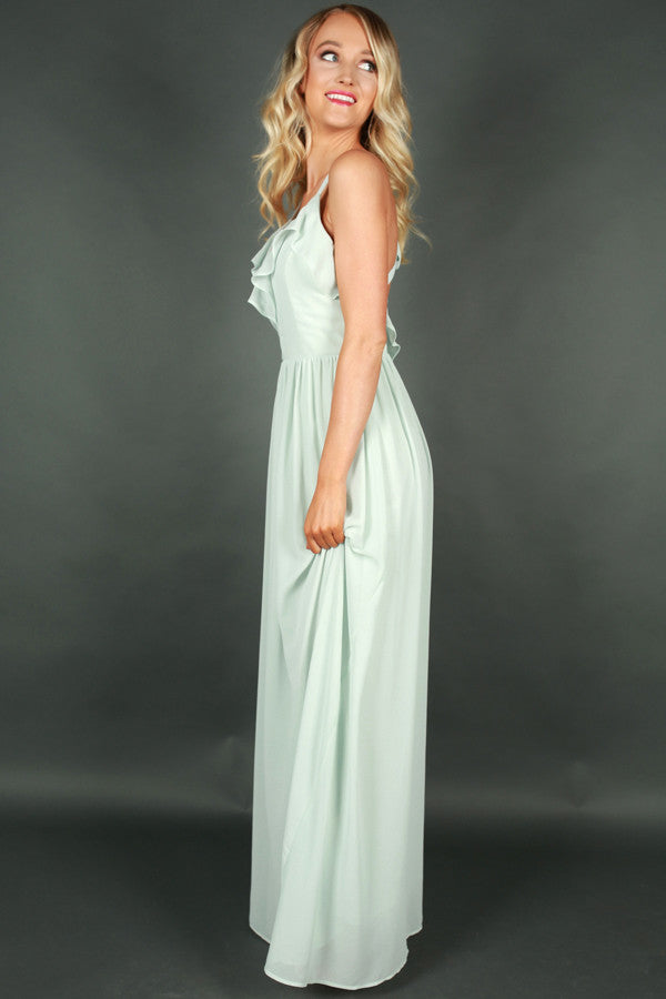 Away We Go Maxi Dress in Mint