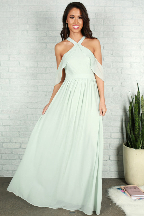 Daydream Darling Maxi Dress in Mint