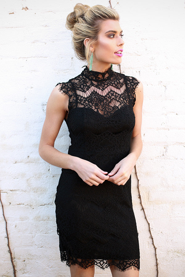 Paris After Midnight Lace Dress in Black