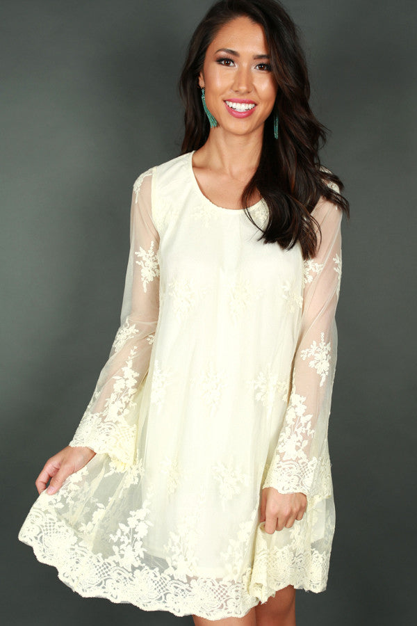 Lola Lace Shift Dress