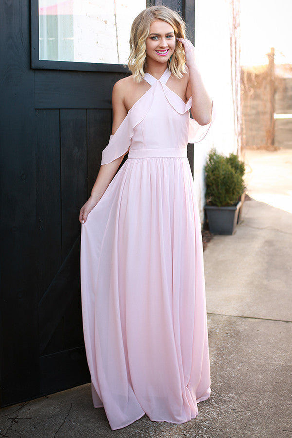 Daydream Darling Maxi Dress in Rose Quartz