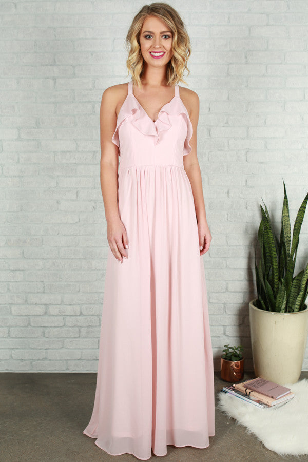 Away We Go Maxi Dress in Rose Quartz