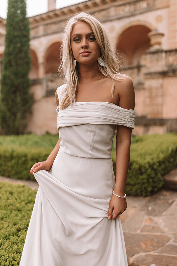 Setting The Tone Maxi Dress in Grey