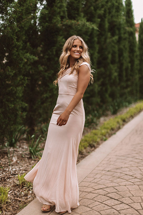 Setting The Tone Maxi Dress in Peach