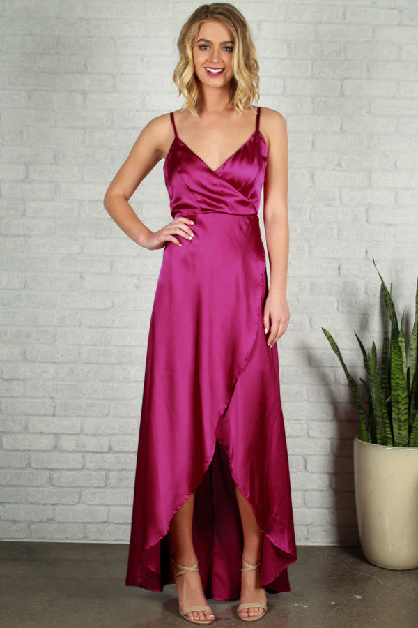 Since You've Been Gone Maxi in Fuchsia
