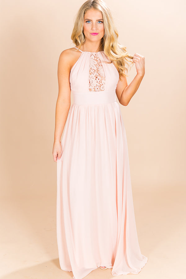 Drinks and Daydreams Maxi Dress in Peach