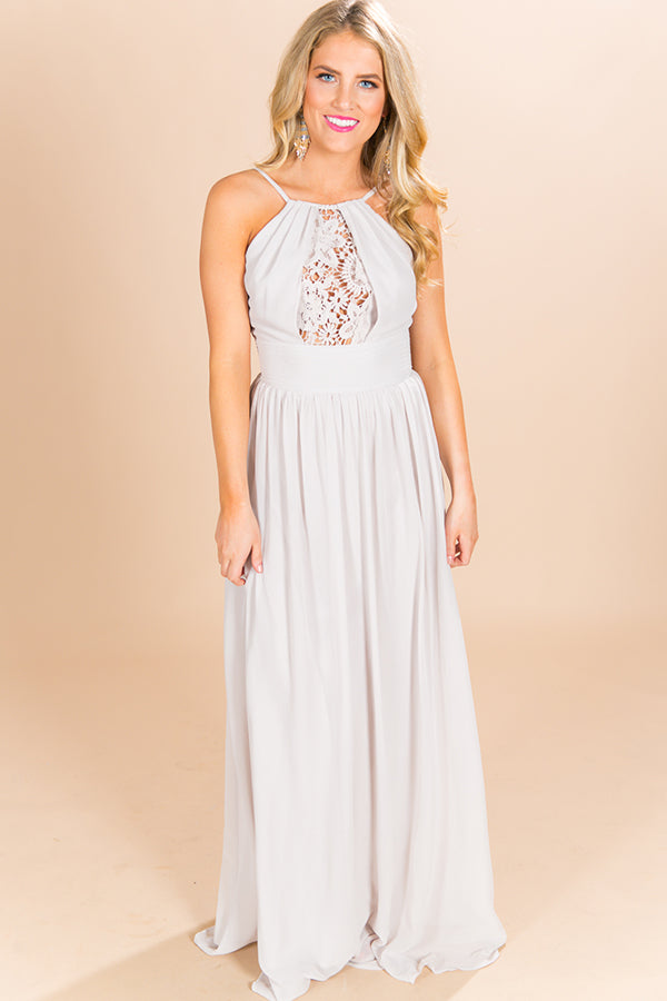 Drinks and Daydreams Maxi Dress in Grey