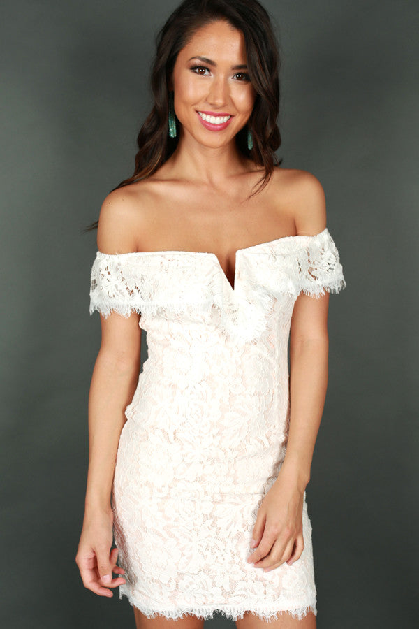 Pretty Please Off Shoulder Dress