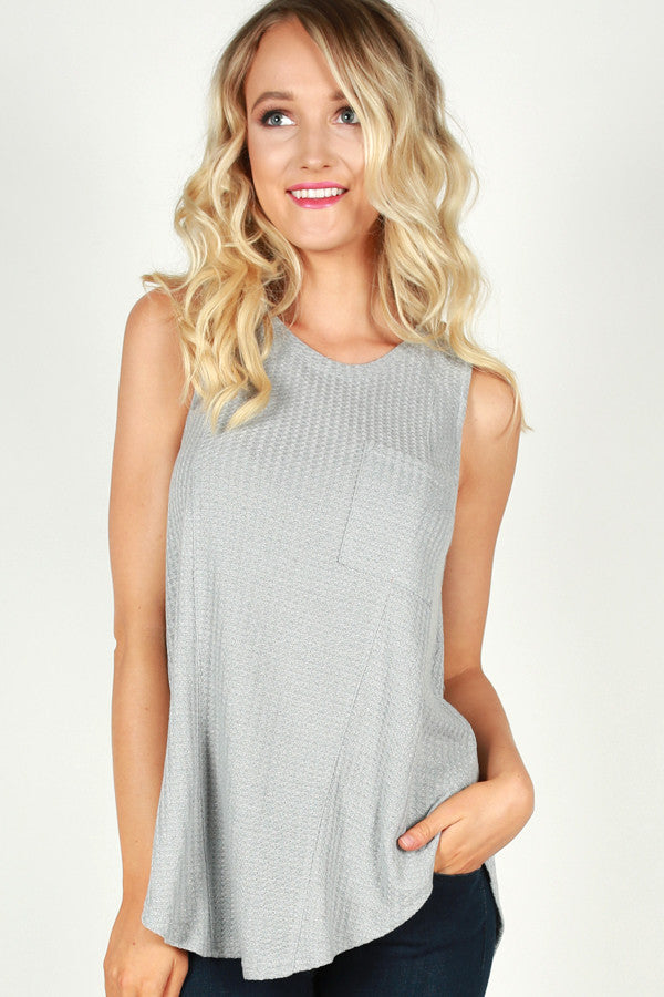 Haute In Here Tank in Grey