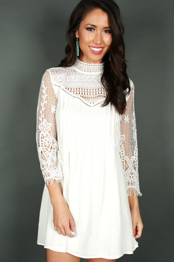 Pursuit Of Happiness Lace Dress in White