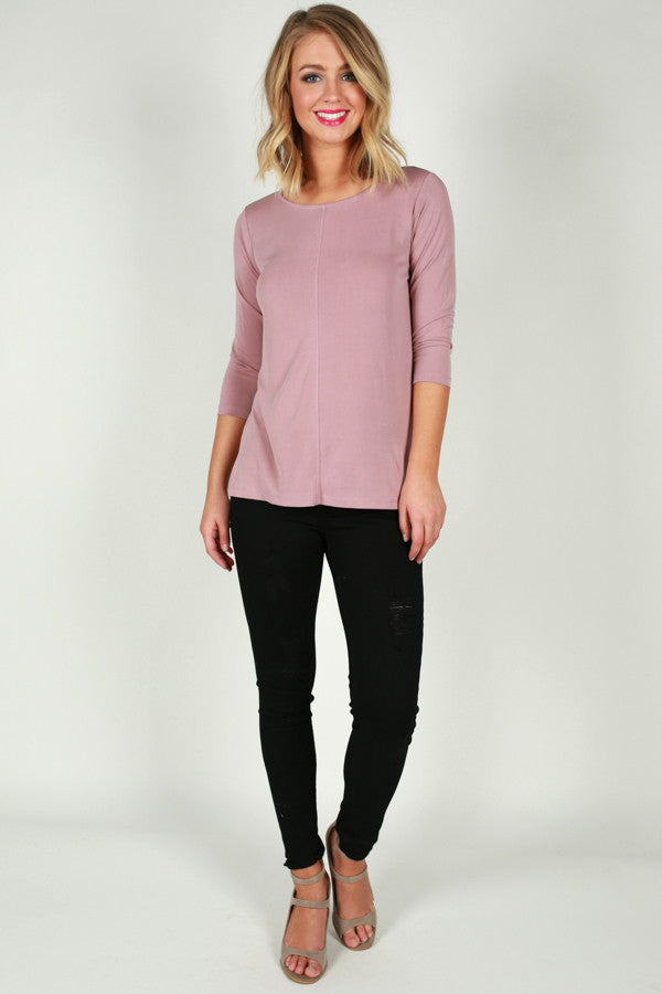 Basic Bliss Shift Top in Blush