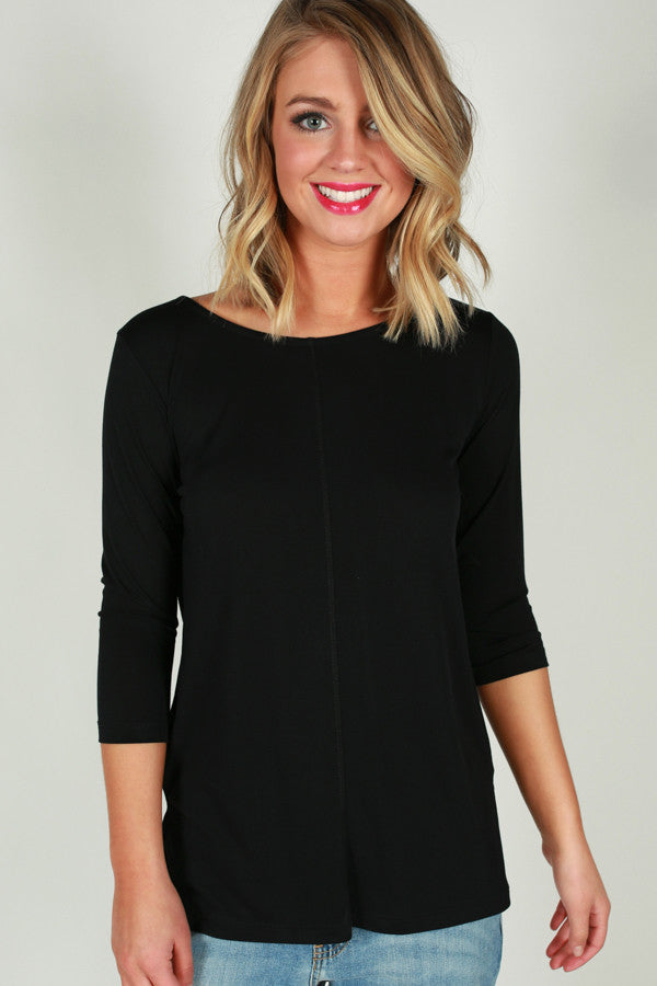 Basic Bliss Shift Top in Black