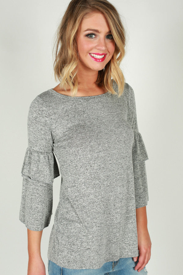 Adore Me Top in Grey