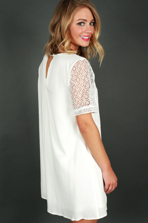 Glow From Within Shift Dress in White