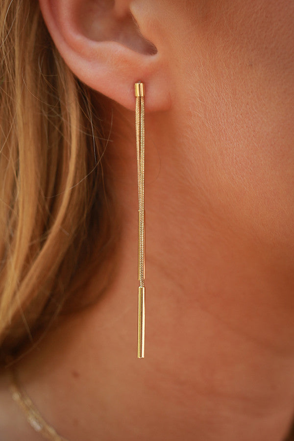 Golden Glam Earrings